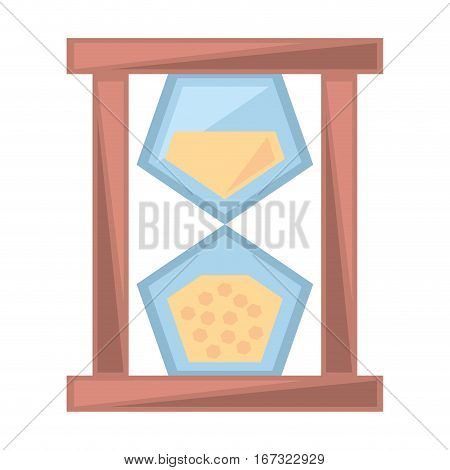 sand clock time glass wooden geometric vector illustration eps 10