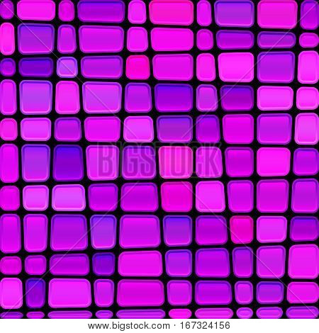 abstract vector stained-glass mosaic background - magenta nad violet