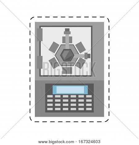 safe box lock combination security cut line vector illustration eps 10