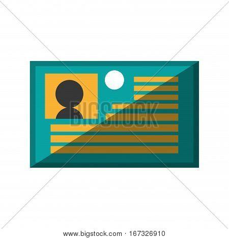 identification card plastic corporate shadow vector illustration eps 10