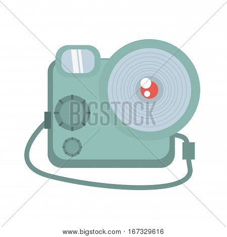 photographic camera picture travel equipment vector illustration eps 10