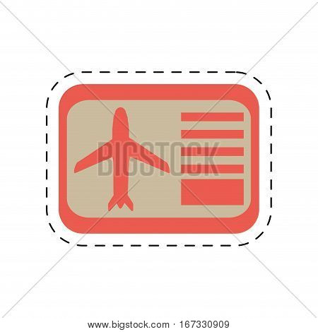 airline boarding pass travel cut line vector illustration eps 10