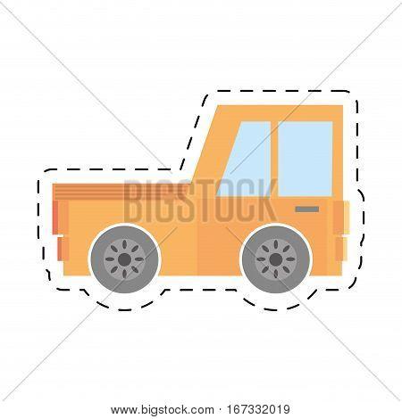 pick up truck transport vehicle cut line vector illustration eps 10