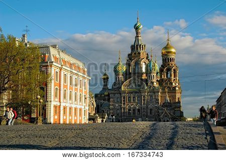 Saint-Petersburg, Russia - May 14, 2006: Church of the Savior on spilled blood