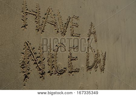 A nice message written in the sand at Pettycur beach