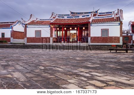 Traditional chinese building seen at Youth Center at Kenting Taiwan