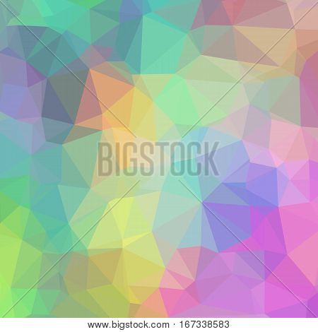 Delicate Colorful Geometric Background of Triangles. Colorful Pastel Triangles Theme.