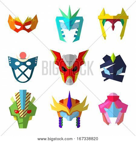 Super Hero Masks Vector set for Characters