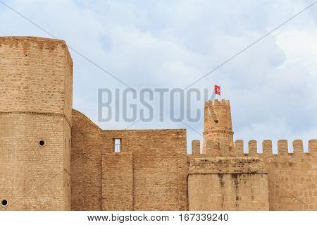 Scenic view to Forte El Ribat in Monastir, Tunisia