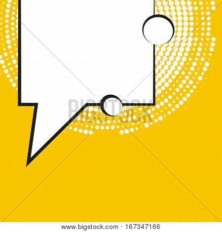 Comic Speech Bubbles With Halftone Shadows. Vector Illustration Eps 10 Isolated On Background.