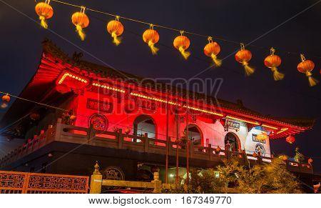 Xiang Lin Si, a Buddhist Temple in Malacca, Malaysia