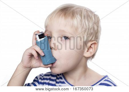 Boy With Inhalator