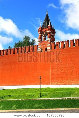 Moscow Kremlin tower built in the Byzantine style