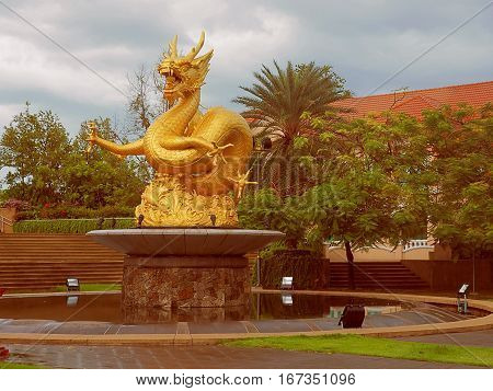 Sea Dragon, a security guard Phuket. Phuket, Thailand - May 29, 2016 Dragon statue considered to be the defender of Phuket in Thailand.