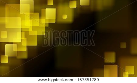 Yellow Abstract Background Of Blurry Squares