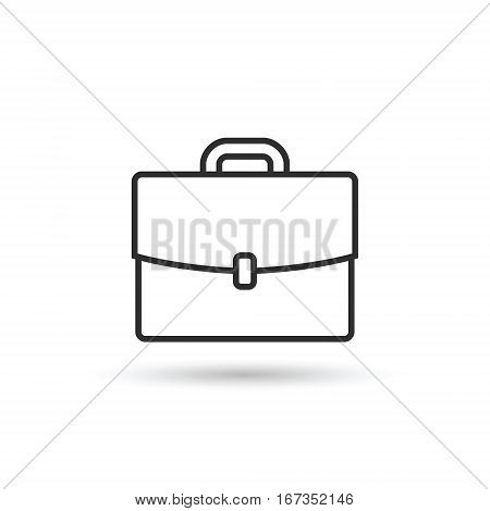 Briefcase portfolio outline icon vector isolated symbol.