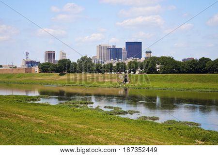 Sunny day in Dayton. Dayton Ohio USA.