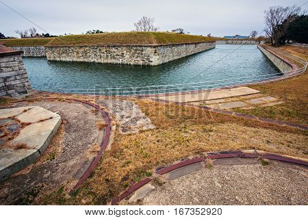 Fort Monroe in Hampton. Hampton Virginia USA.