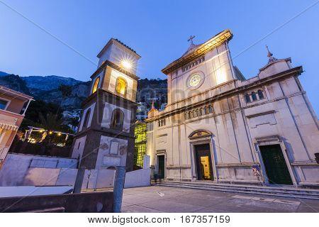 Santa Maria Assunta Church in Positano. Positano Campania Italy.