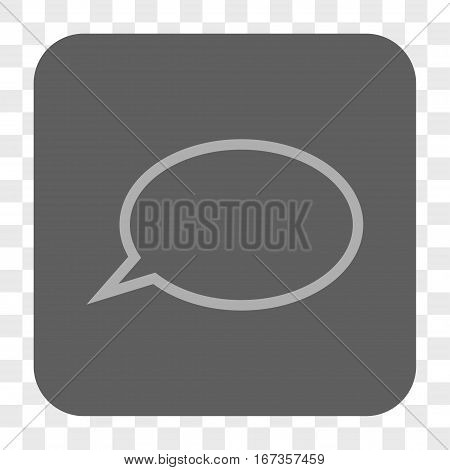 Hint Cloud interface toolbar button. Vector icon style is a flat symbol on a rounded square button light gray and gray colors chess transparent background.