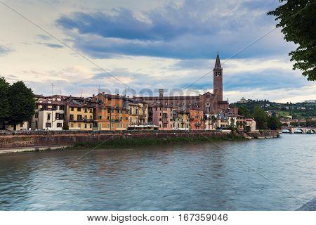 Architecture of Verona, Italy. Verona, Veneto, Italy.