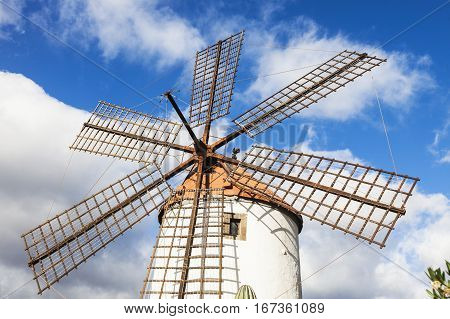 Windmill on Gran Canaria. Morgan Gran Canaria Canary Islands Spain.