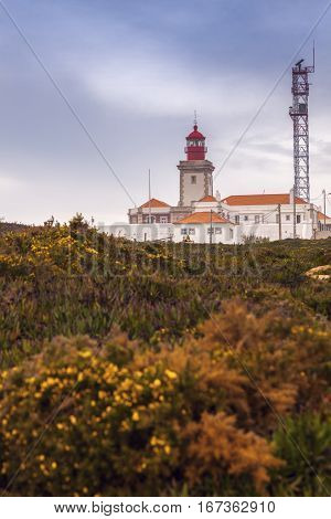 Cabo da Roca Lighthouse. Colares Lisbon Portugal.