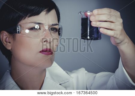 laboratory female personel on research and development, career woman