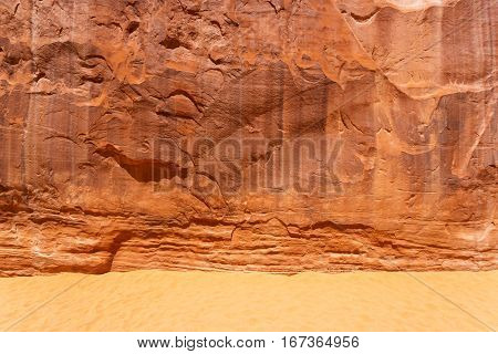Sands with stone mountain texture background