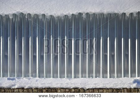 Snowy Metal Wall Texture