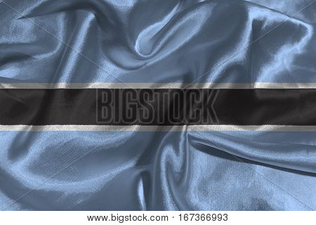 Botswana flag ,Botswana national flag 3D illustration symbol.