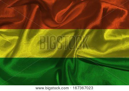 Bolivia flag ,Bolivia national flag 3D illustration symbol.