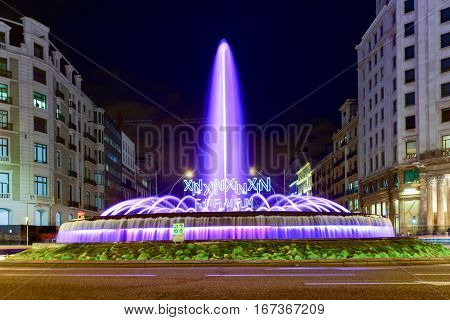 Barcelona, Spain - November 24, 2016: Jardins de la Reina Victoria is a garden in Barcelona and is nearby to Placa de Catalunya Eixample Esquerra and Plaza Nova. Jardins de la Reina Victoria is also close to Passeig de Gracia.