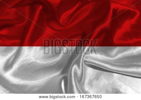 INDONESIA flag  3D illustration symbol. 3D Original and simple Indonesia