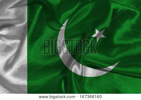 Pakistan flag ,3D Pakistan national flag 3D illustration symbol