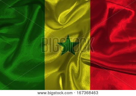 Senegal national flag 3D illustration symbol. Senegal flag