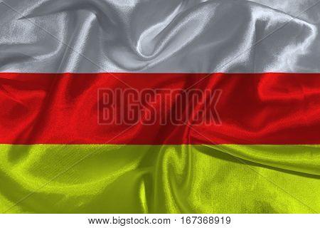 South ossetia flag 3D illustration symbol .