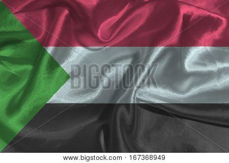 Sudan flag ,Sudan national flag 3D illustration symbol