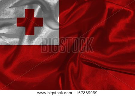 Tonga flag ,Tonga flag 3D illustration symbol