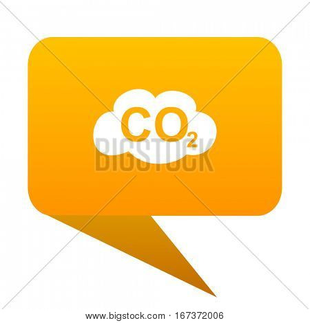 carbon dioxide orange bulb web icon isolated.