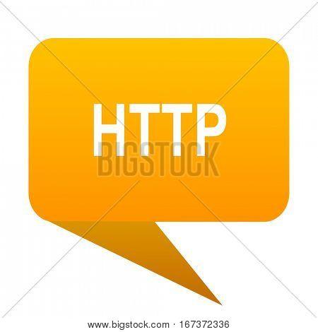 http orange bulb web icon isolated.