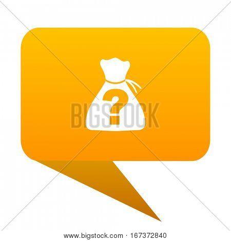 riddle orange bulb web icon isolated.
