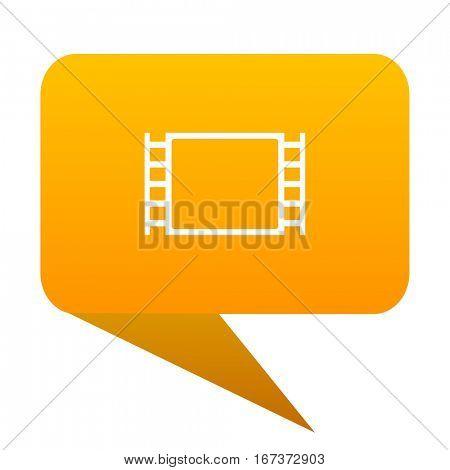 movie orange bulb web icon isolated.