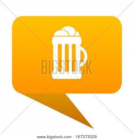beer orange bulb web icon isolated.
