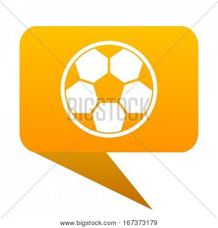 soccer orange bulb web icon isolated.