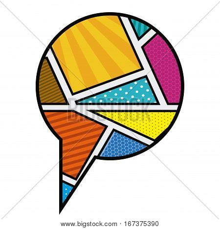 circular callout for dialogue in pop art vector illustration