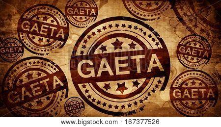 Gaeta, vintage stamp on paper background