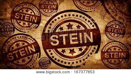 Stein, vintage stamp on paper background