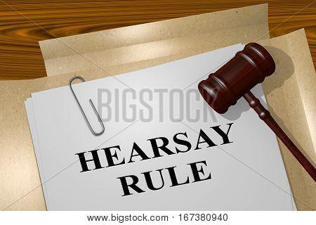 Hearsay Rule Concept