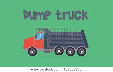 Dump truck of vector flat collection stock
